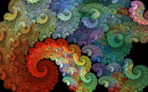 Colorful Spiral Abstraction Wallpapers