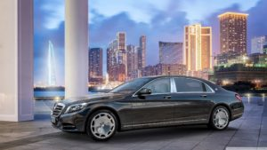 Mercedes-Benz Maybach S-Class in Shanghai HD desktop wallpaper