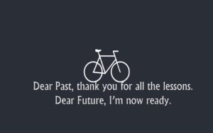 Amazing Quote on Past and Future Wallpaper