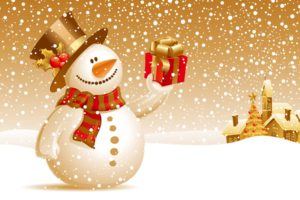 Snowman Christmas Gift Wallpapers