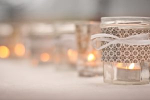 Candle Bow Decoration