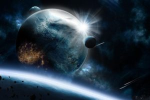 Planets Asteroids Speed Impact Explosion