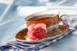 Tea, Cup, Napkin, Rose, Flower, Tea party
