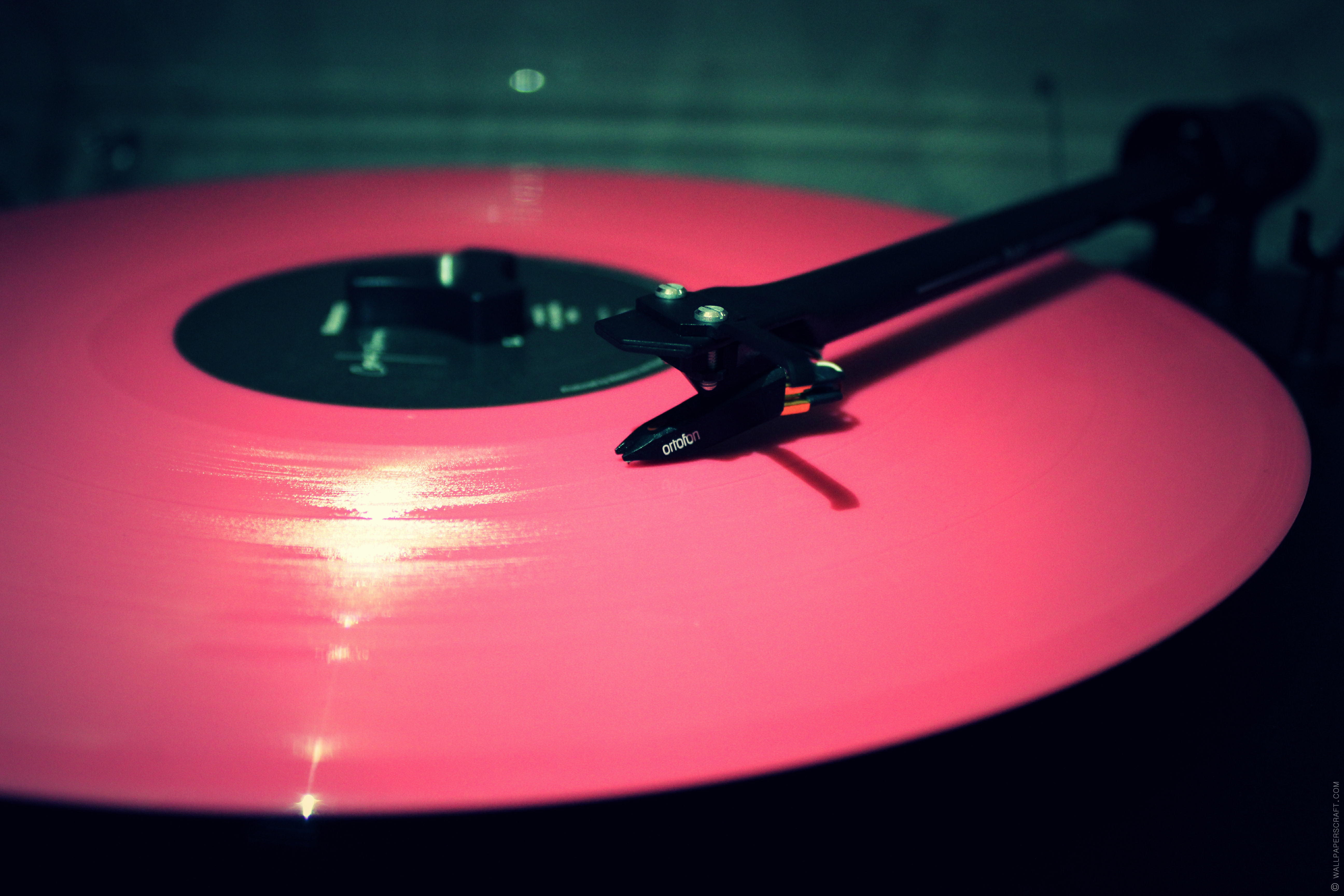 Vinyl Record Pink Needle Player