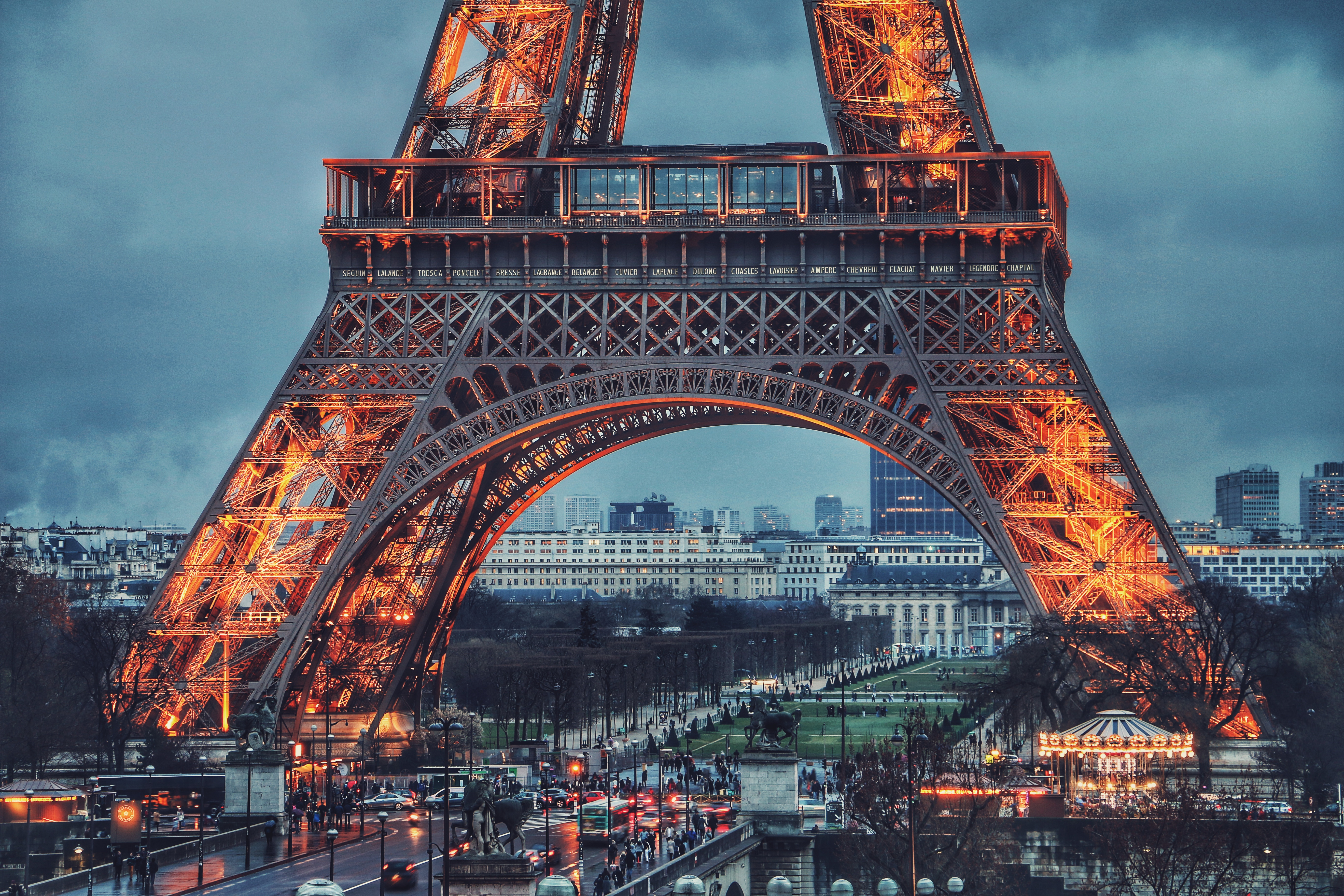Eiffel tower Paris France Light