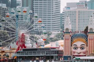 Luna park Sydney Milsons point Australia Ferris wheel Attractions