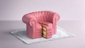 Sofa Pie Piece Pink Napkin Cool for PC & Mac Laptop Tablet Mobile Phone