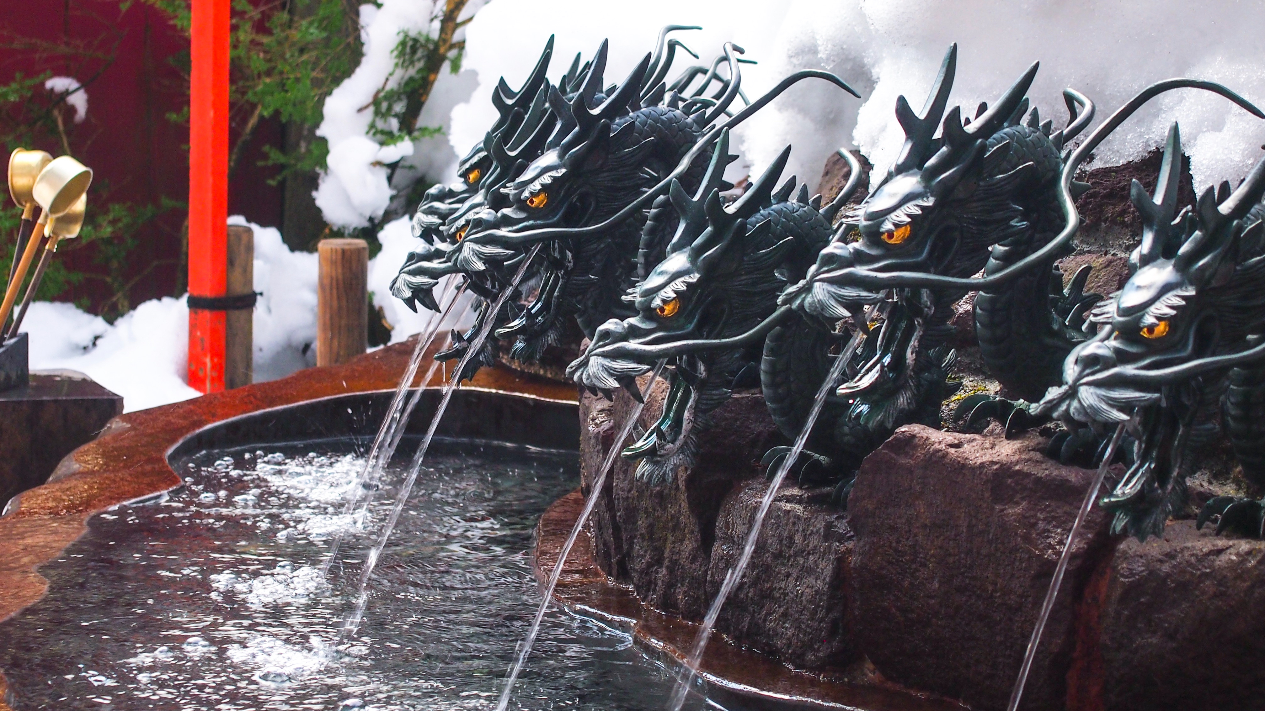 Fountain Dragons Water