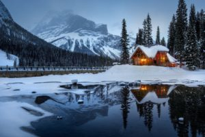 house_mountains_snow_lake_beautiful_landscape_115585_3000x2000