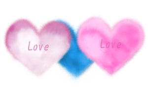 Love Heart Light Pink Blue