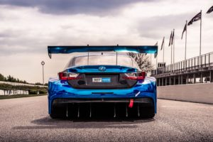 2017 lexus rc f gt3 on racetrack 4k
