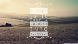 To travel is to take a journey