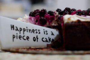 Happiness Is a Piece of Cake Close Up