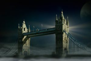 Tower Bridge London Moon Fog