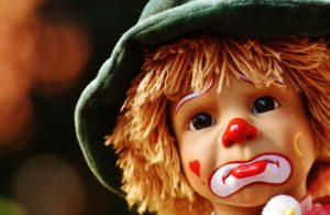Doll Clown Sad Colorful Sweet
