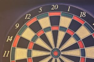 Red Green and Black Dartboard