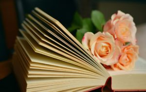 book book pages flowers