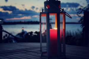 beach candle candlelight