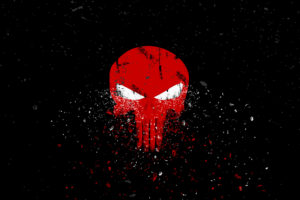 Punisher Logo Dark background Creative Graphics
