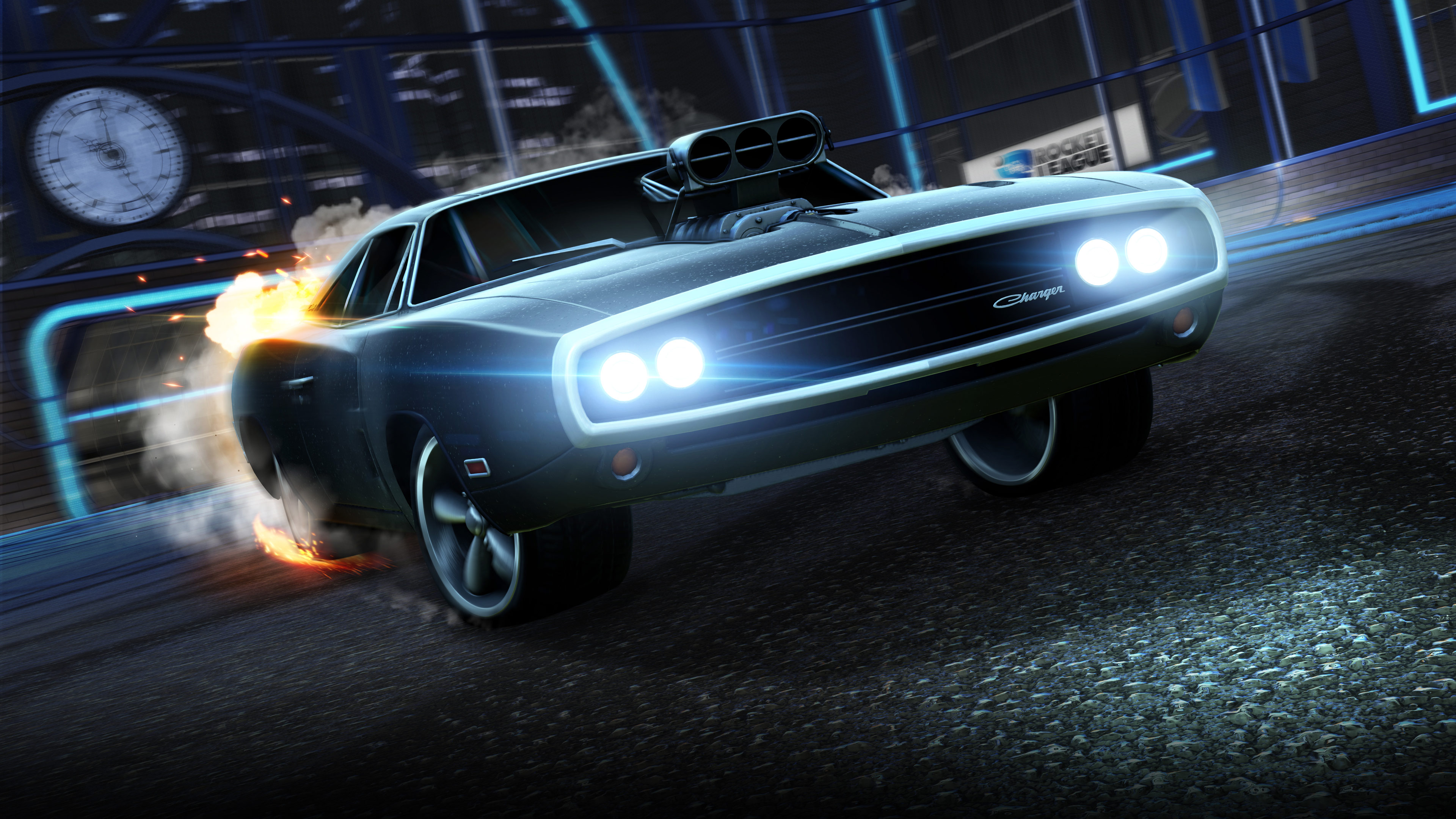 Dodge Charger in Rocket League 4K Wallpapers