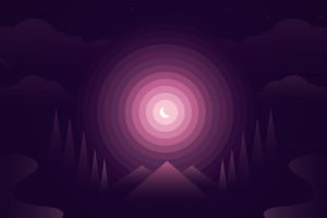 Forest Purple Gradient 4K Wallpapers
