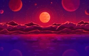 Sunset Planets HD Wallpapers