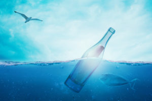 Bottle Secret Fish Bird 4K Wallpapers