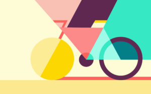 Geometric Abstract Bicycle Wallpapers