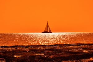 Sunset Boat Sail 4K