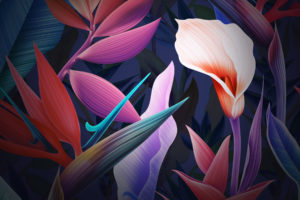 Neon Flowers Huawei Mate 10 Stock Wallpapers