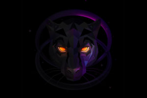 Wolf Low poly Minimal Wallpapers