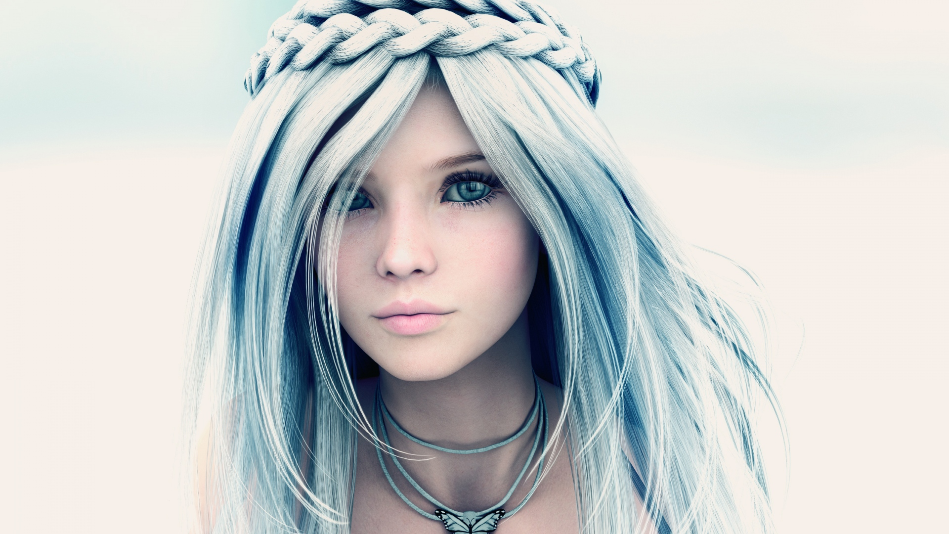 3d Rendering Girl Face Art HD Wallpapers