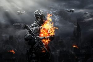 Battlefield, Aviation, Ammunition, Skull, Gun, Fire