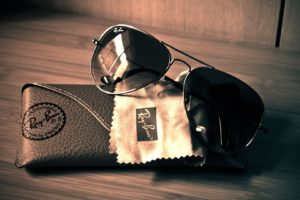 Glasses, Case, Ray ban