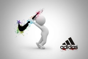 Gray, Nike, Adidas, Competition, Graphics