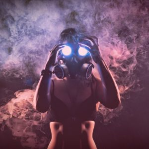 Hot girl Gas Mask Wallpapers