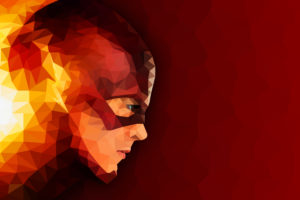 The Flash Low poly Artwork Wallpapers