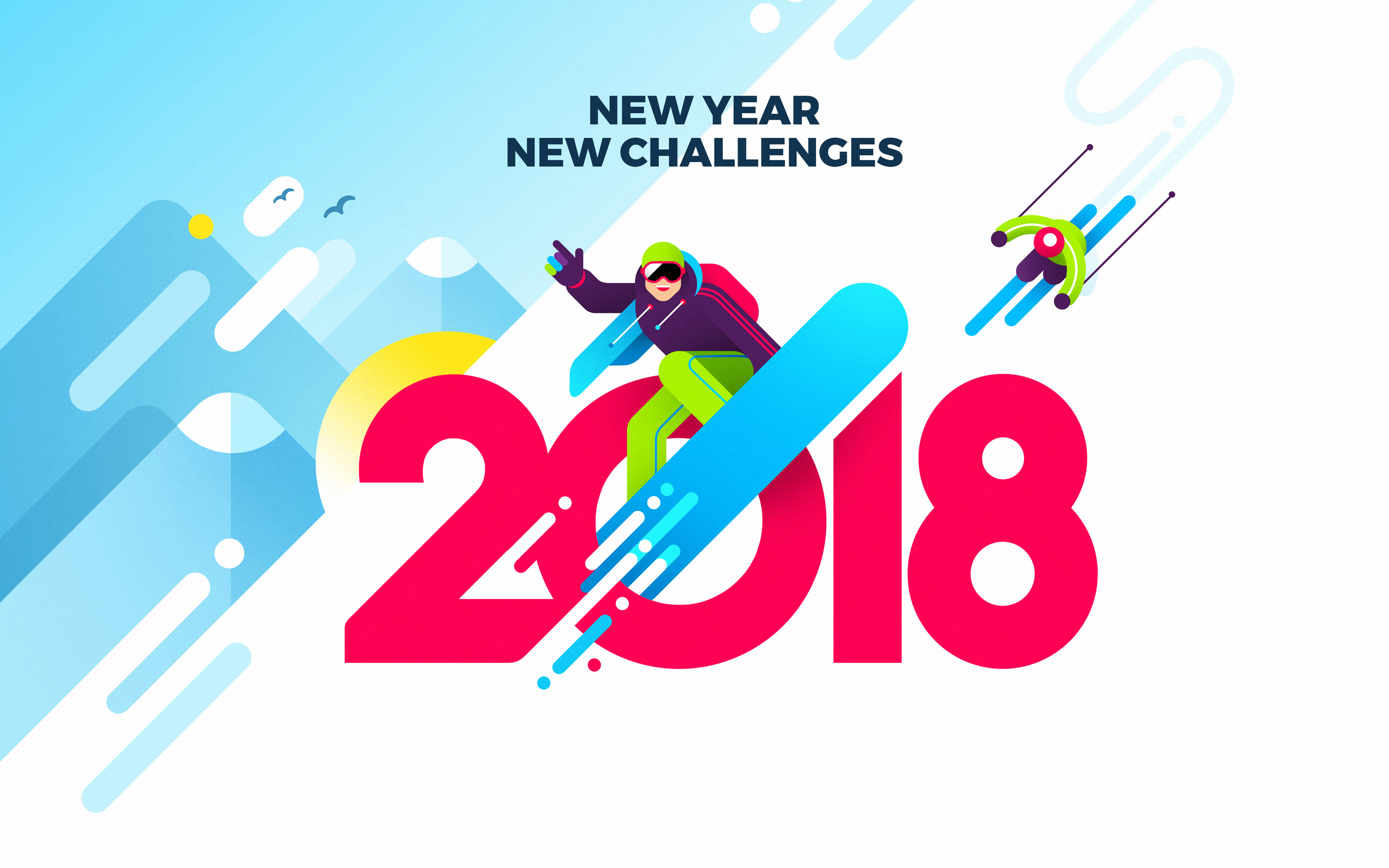 2018 New Year New Challenges Wallpapers