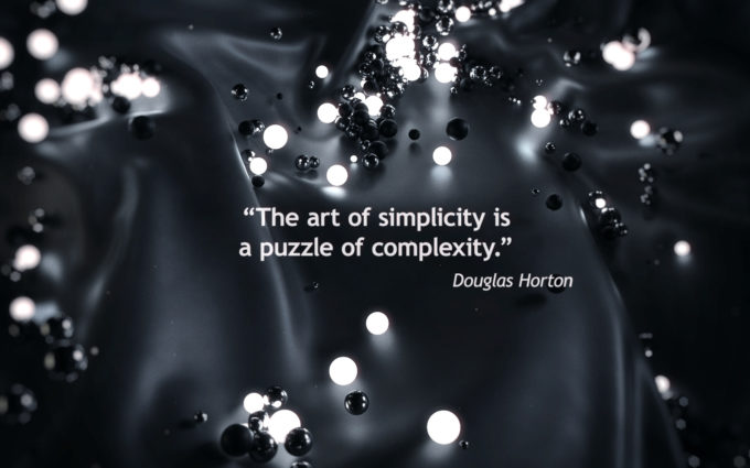 Art of Simplicity Quotes Wallpapers