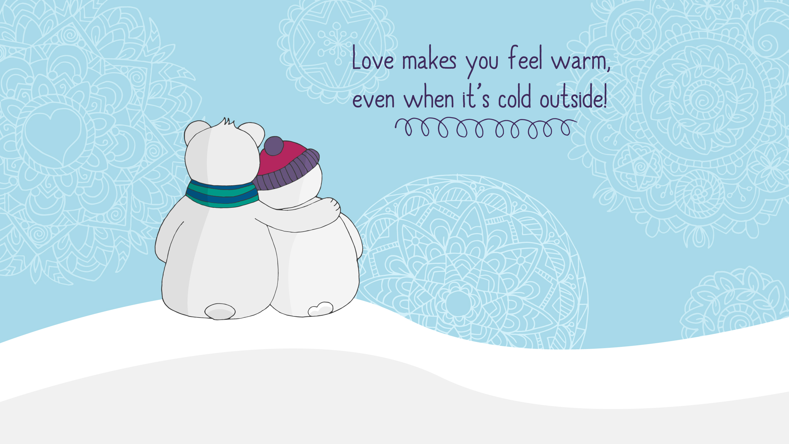 Love makes you warm Wallpapers