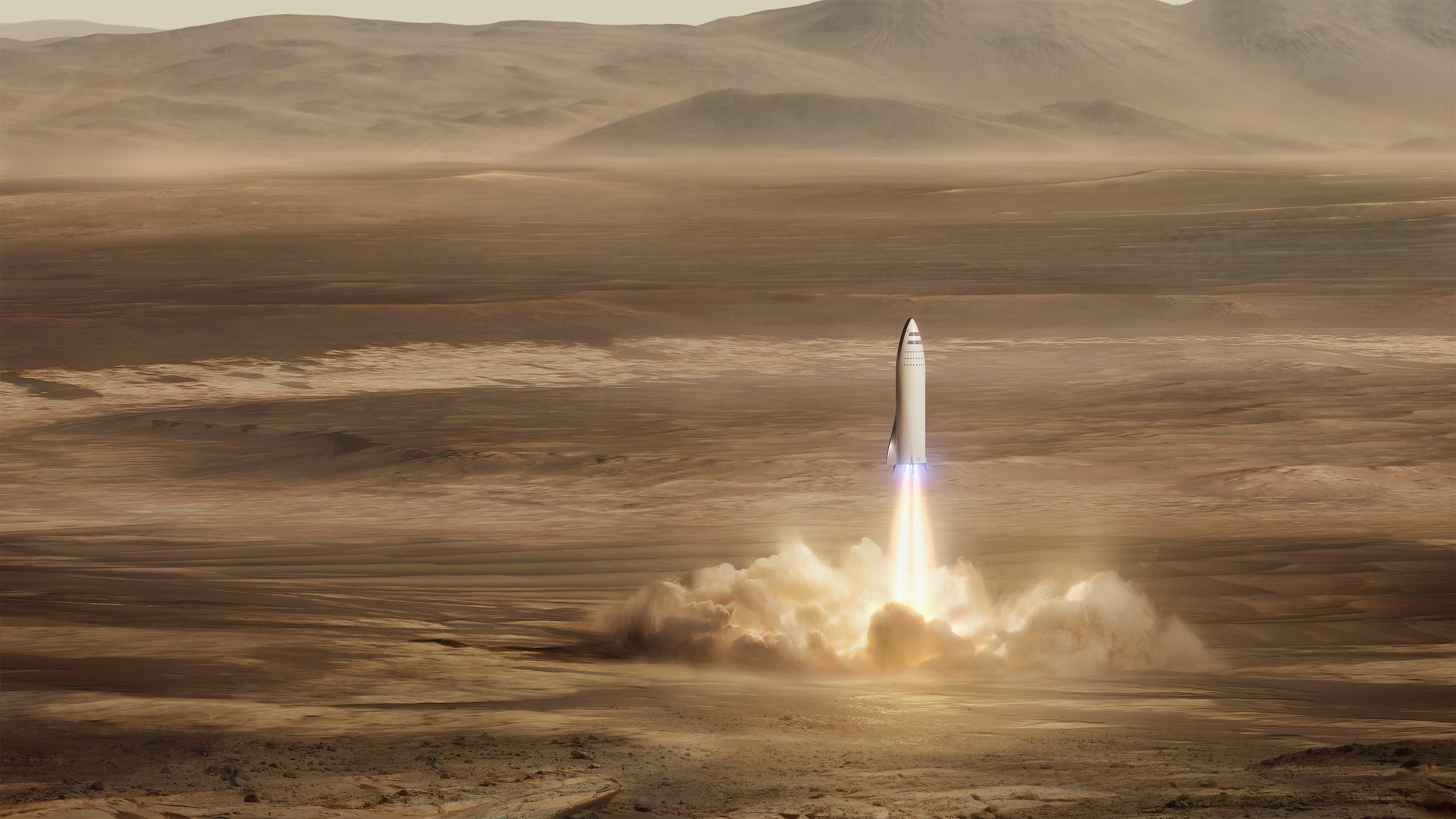 SpaceX BFR Mars mission 4K Wallpapers