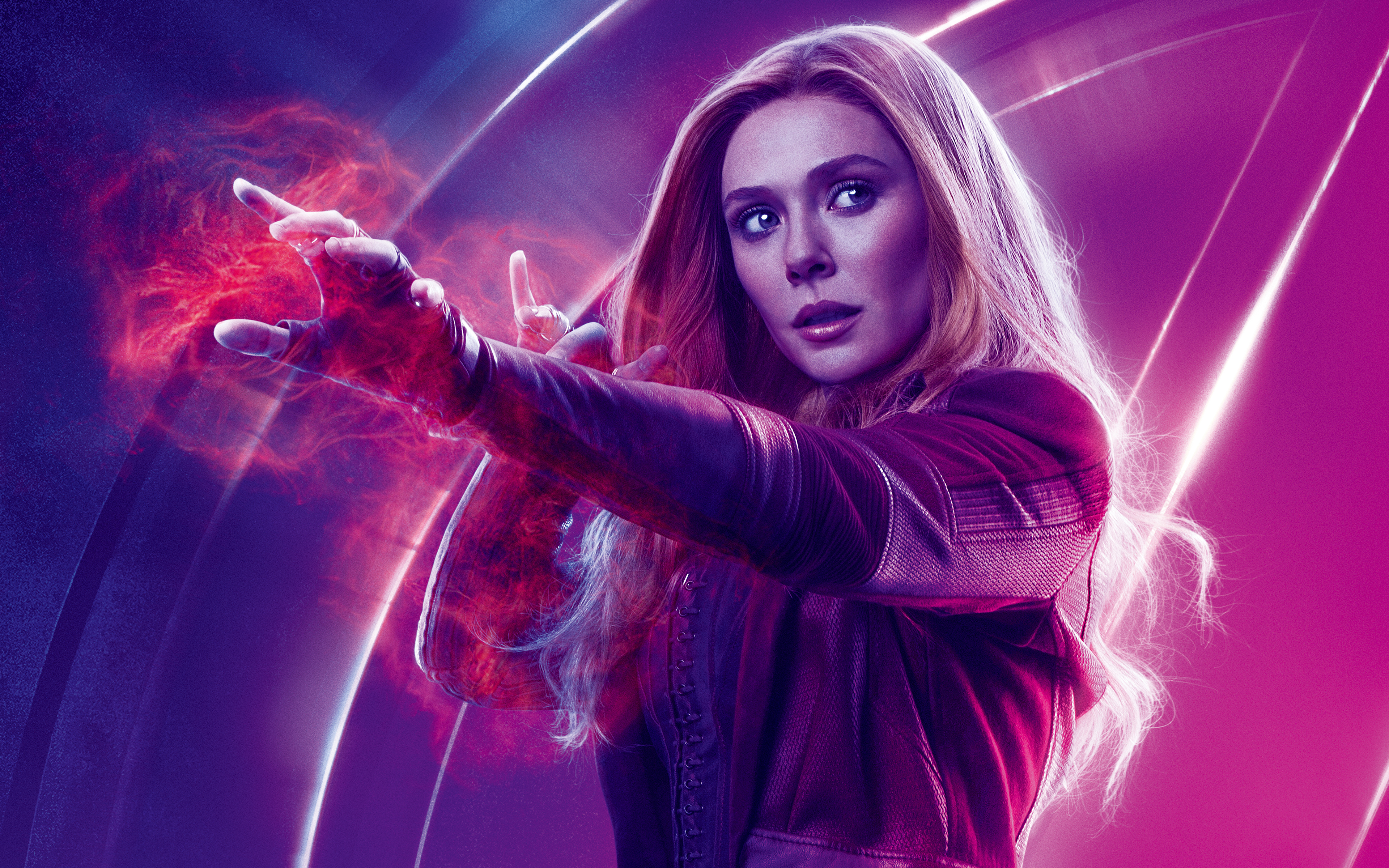 Elizabeth Olsen As Scarlet Witch Avengers Infinity War 4K 8K Wallpapers