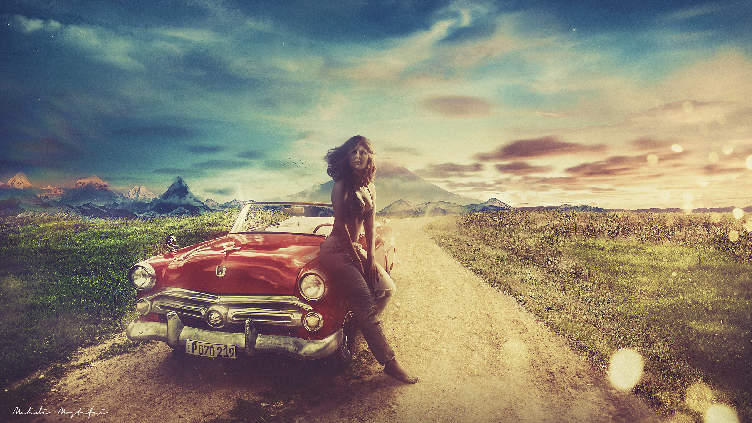 Vintage Car Hot Girl Wallpapers Hd Wallpapers