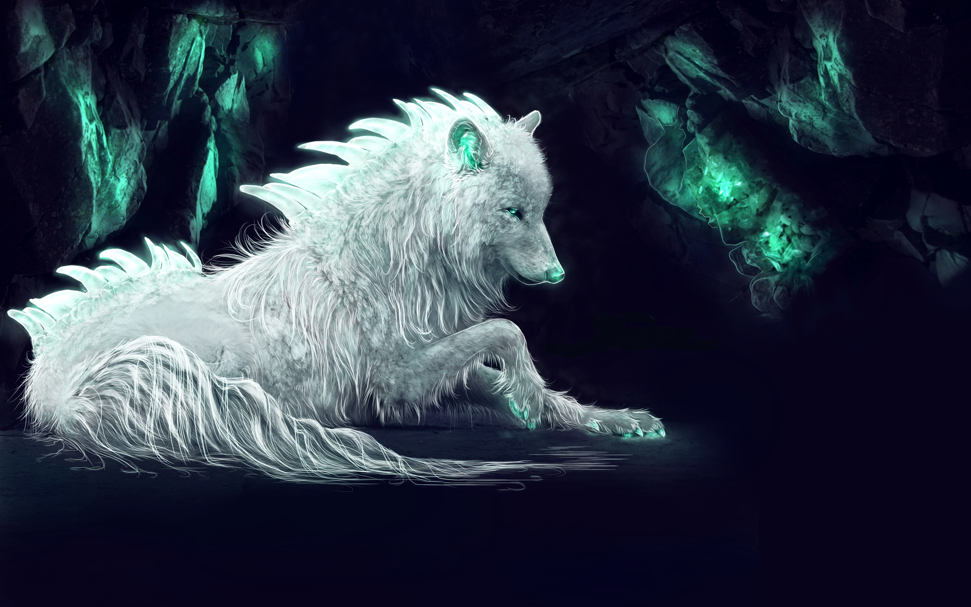 White Arctic Wolf 5k Wallpapers Hd Wallpapers
