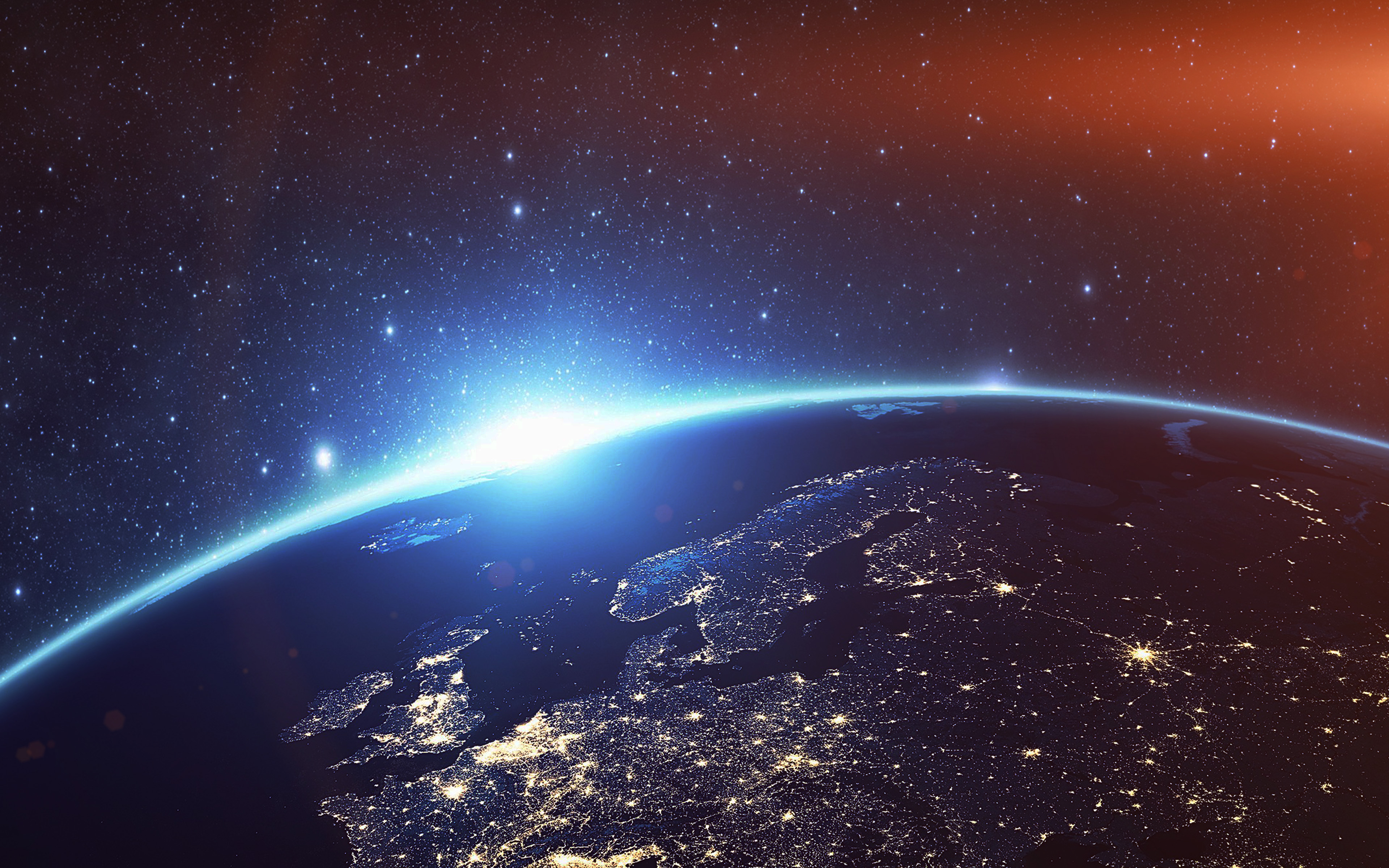 Europe Night Earth 4K Wallpapers   HD Wallpapers