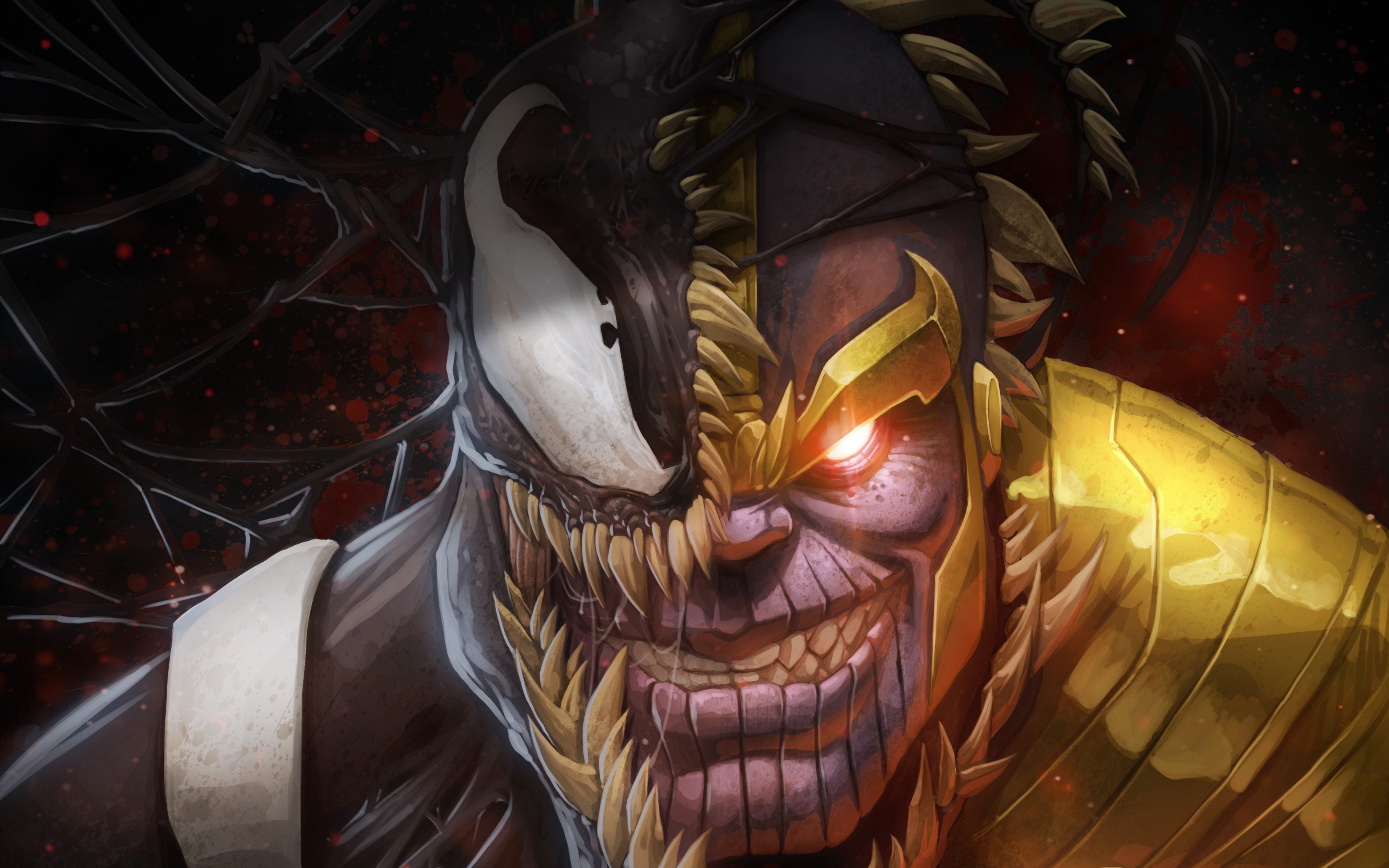 Thanos Venom Artwork Wallpapers Hd Wallpapers