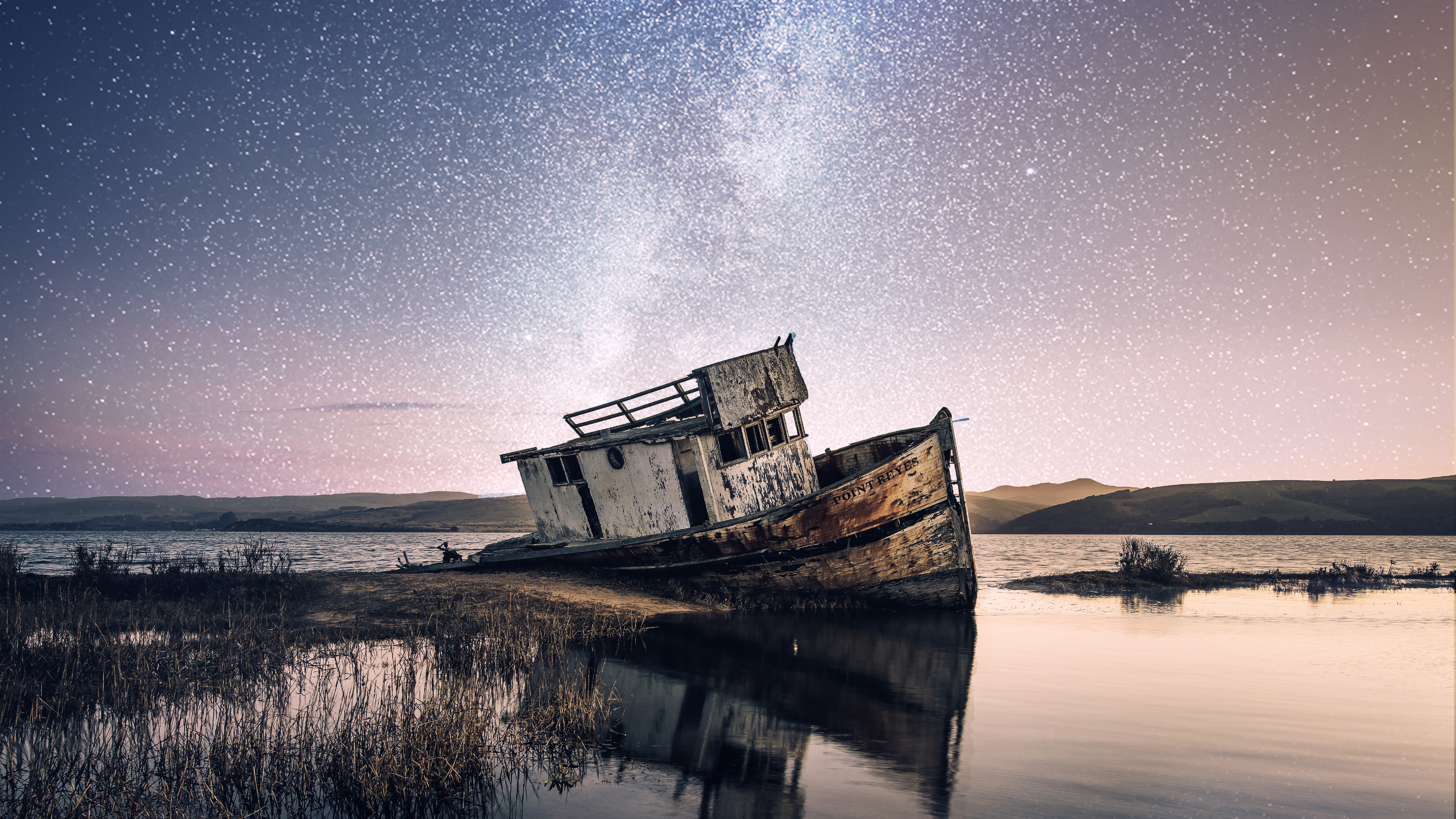 Abandoned Beach Boat 4k Wallpapers Hd Wallpapers