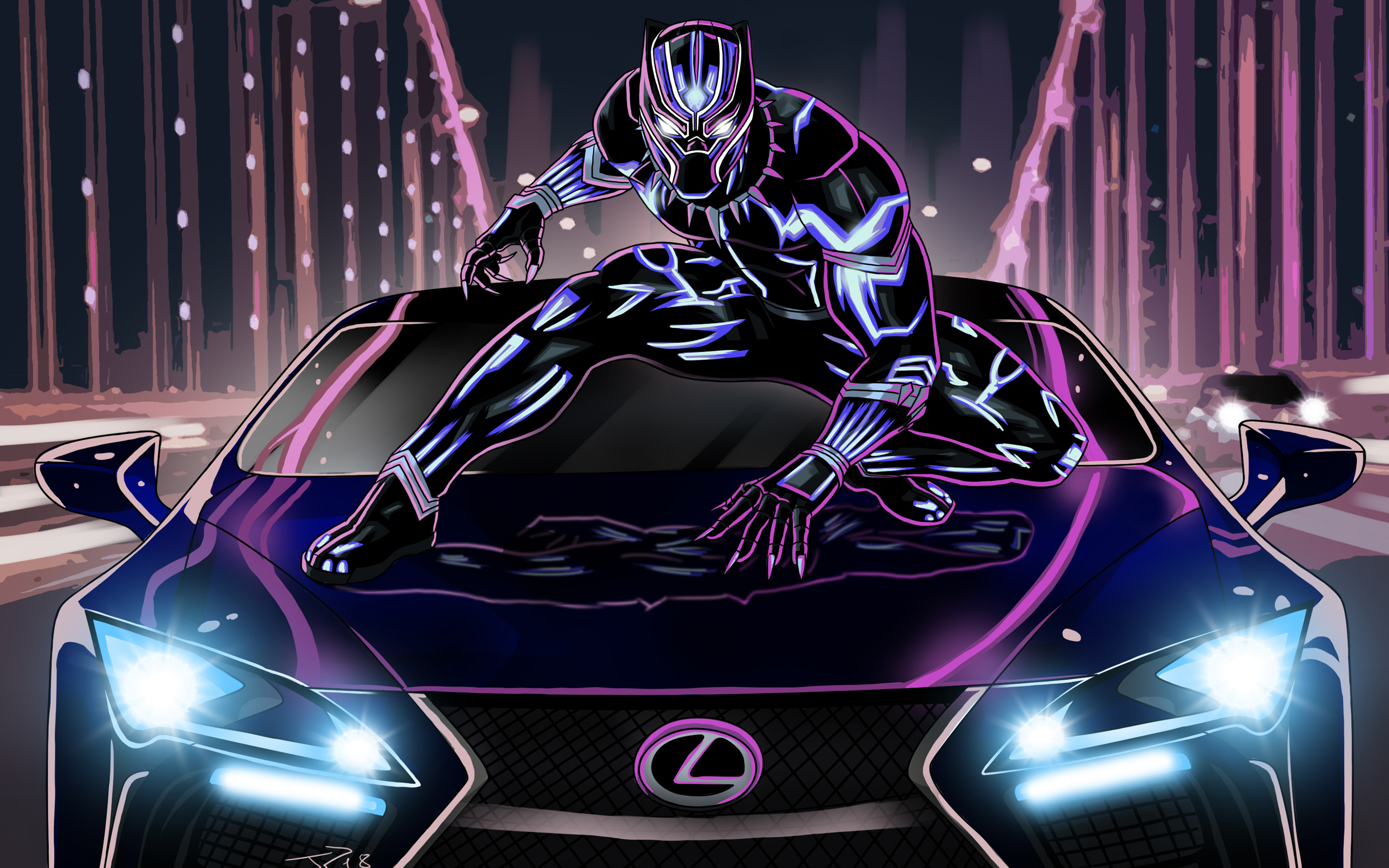 Black Panther on Lexus LC500 Wallpapers | HD Wallpapers