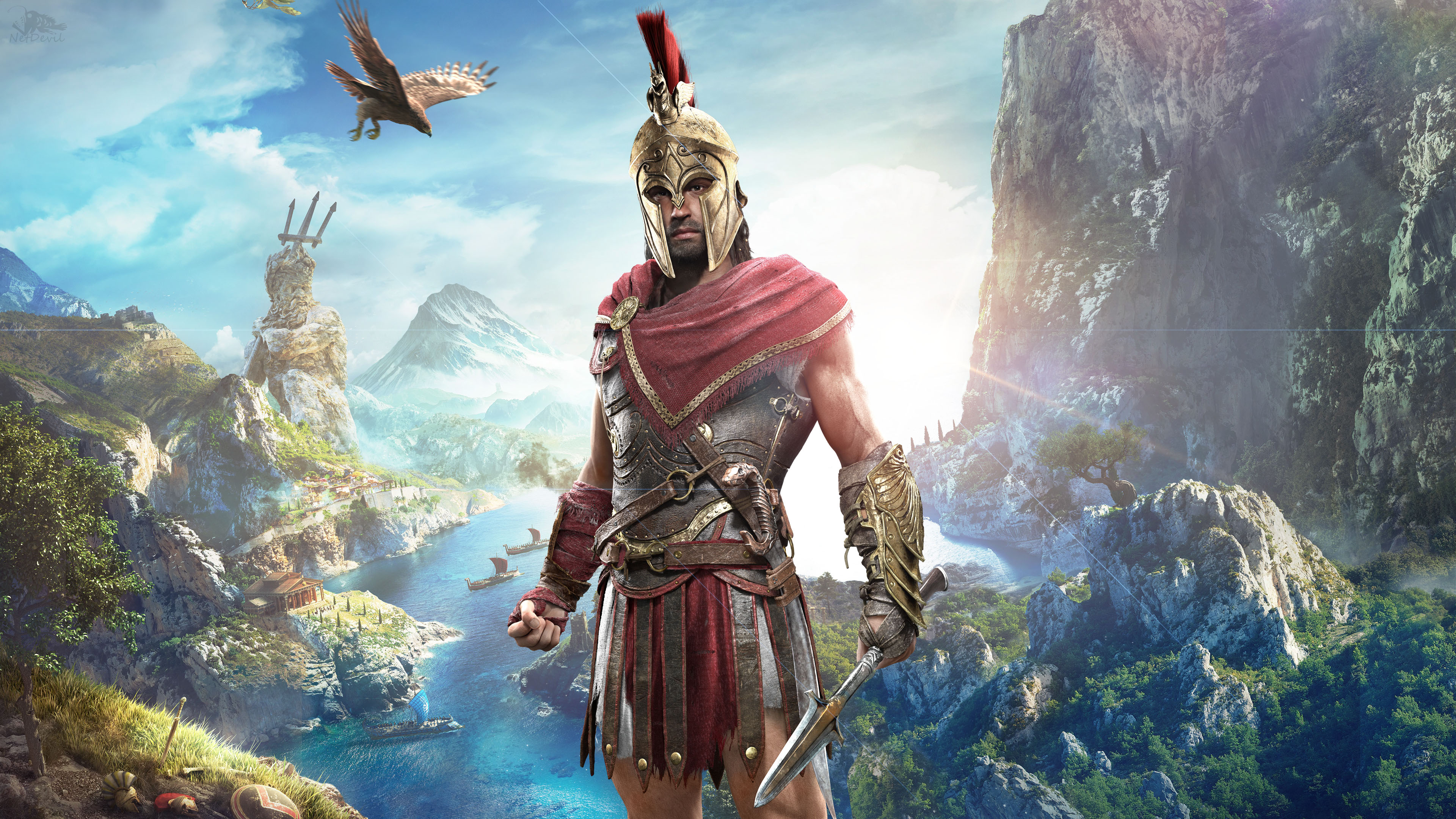 Alexios In Assassin S Creed Odyssey 4k Wallpapers Hd Wallpapers