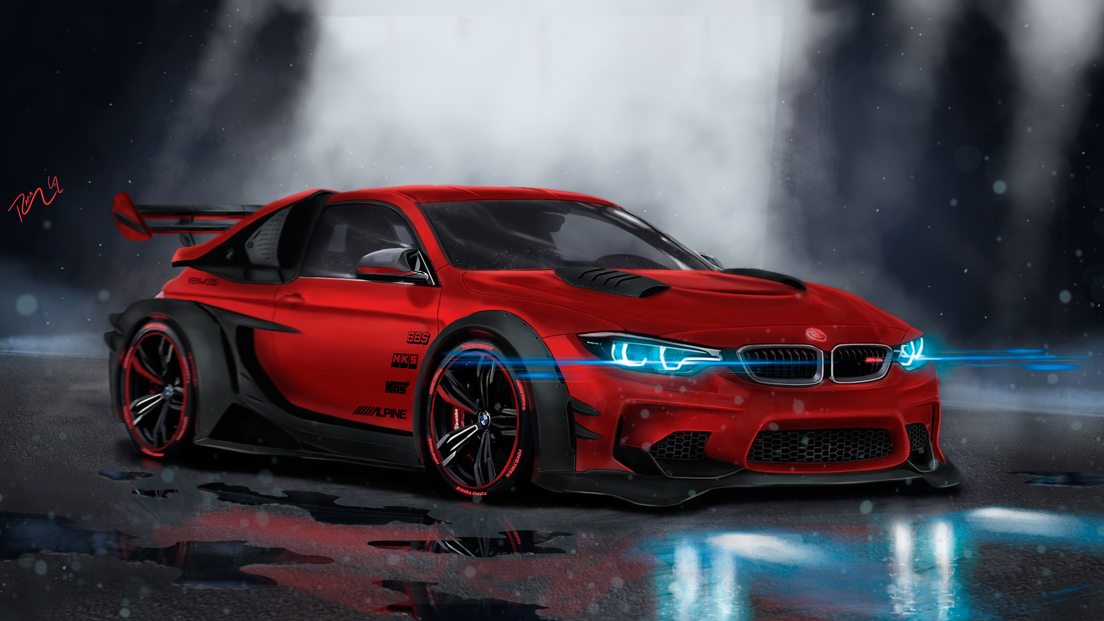Bmw Supercar Concept Art 4k Wallpapers Hd Wallpapers